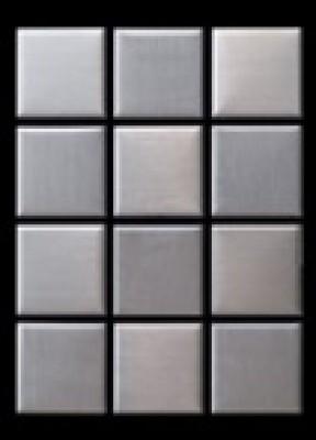 Plaque mosaique inox 2 5x2 5sur trame bernis 30620 for Acheter plaque inox