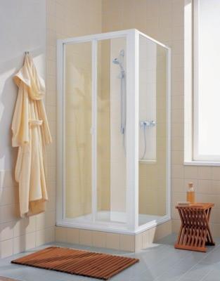 Paroi fixe profils blanc verre clair dimensions 90cm extérieur 84/91cm REF CATWD090182PK