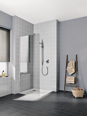Porte douche paroi fixe posée seule CADACLEAN TWF 08020 VPK