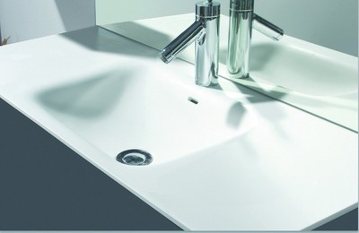 Plan solid surface solid surface anco 1200x460cm blanc mat
