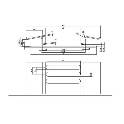 Profil de ventilation gris anthracite RAL7016 FREEFOAM PLASTICS FRANCE