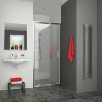 Porte pivotante EQUI 1000x1900mm profilé blanc