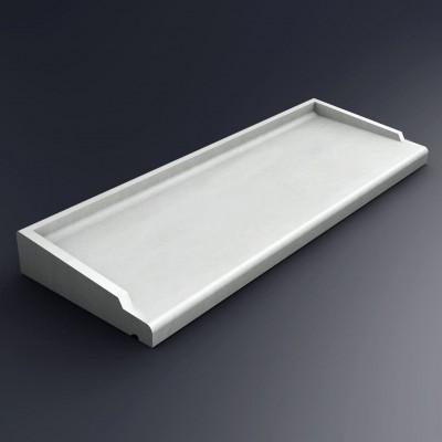 Appui De Fenêtre Béton Abs 2 Type 140 Blanc 355x148cm Pbm Industrie