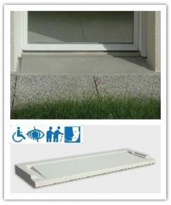 Seuil pour porte fenêtre PMR Ton pierre 34x110 WESER