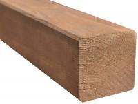 Poteau ianis carré brun 9x9cm longueur 2,4m STELMET