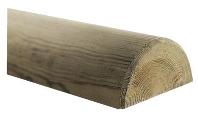 demi rondin pin trait classe 4 diam tre 8cm longueur 2 5m. Black Bedroom Furniture Sets. Home Design Ideas