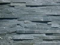 Plaquette parement INDY 15x60cm épaisseur 1/3cm 0,54m² noir GONMAR