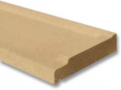appui de fen tre nez arrondi ton pierre 28x190cm weser. Black Bedroom Furniture Sets. Home Design Ideas