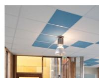 Dalle de Plafond TONGA A noir EC43 22mm 600x600mm EUROCOUSTIC