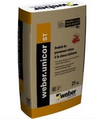 Enduit WEBER.UNICOR ST 226 rose beige claire sac de 25kg WEBER