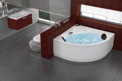 Baignoire baln o d 39 angle limbo 140x140 sensation air pool grandform nevers 58027 - Destockage baignoire balneo ...