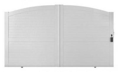 Portail coulissant PVC Larmor sans accessoires 160x350cm gauche