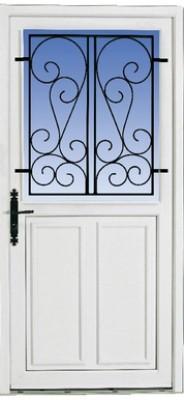 Porte Guerande/Olonne (10) sans grille avec accessoires 215x90cm droite