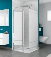 Paroi SMART2 SOLO 77/81cm chromé transparent BLANC