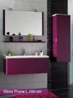 Miroir GLOSS prune largeur 60cm