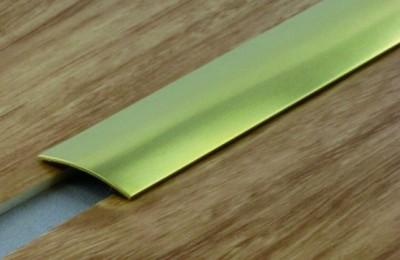 Seuil adhésif multi-niveaux laiton poli 40x2700mm DINAC