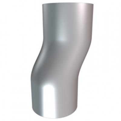 Coude étage cintré zinc diamètre 75mm HILD