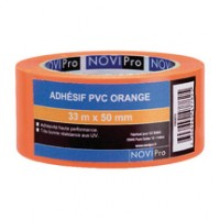 Adhésif PVC orange 33mx50mm NOVIPRO