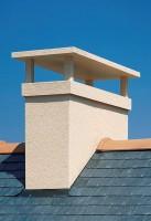 Sortie de toit 84% avec chapeau crépie ocre POUJOULAT