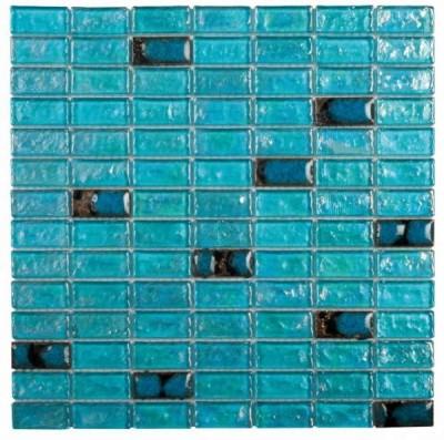 Verre turquoise + céramique mosaïque 30x30cm BATI ORIENT IMPORT - Le ...
