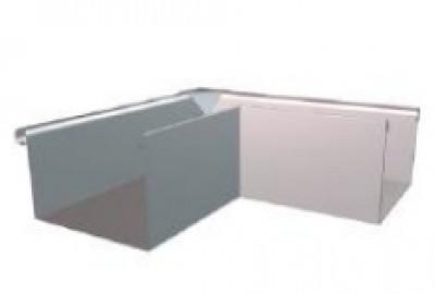 Equerre carrée zinc naturel dév 40 intérieur HILD