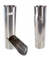 Récupérateur d'eau à clapet en zinc prépatiné diamètre 75mm HILD