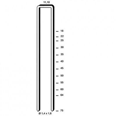 Agrafe galva résinées Z-45 boîte 10000