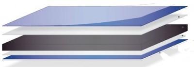 Panneaux alu 3x3050x1500mm MATELBOND B21 alu revêtu RAL9016 blanc 1 face blanc brillant / 1 face appret gris