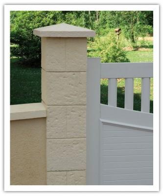 Kit pilier CHEVERNY complet 38x38cm crème WESER