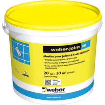 Mortier WEBER.JOINT HR gris perle E07 20kg WEBER