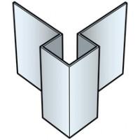 Angle extérieur cédral lap aluminium symétrique blanc Everest AS2 3000 C01