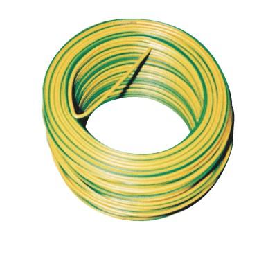 Fil rigide HO7VU 2,5mm2 100m vert/jaune DAUMESNIL
