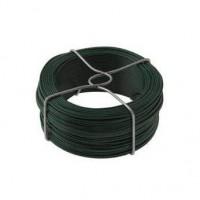 Fil d'attache plastifié vert diamètre 1,1mm bobinot de 50m DIRICKX