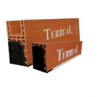 Caisson monobloc 20x41.2cm avec sous-face PVC 1.6m TERREAL