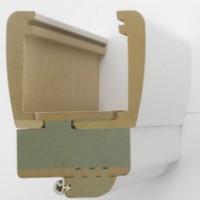 Chambranle/contre-chambranle CLYPSO pour cloison 52/92mm réversible 83cm RIGHINI