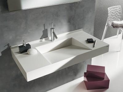 Plan de toilette 100cm TRIGO VARICOR blanc A ALLIA
