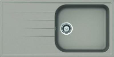 Evier VIOLA 1 grand bac, 1 égouttoir béton taupe 1000x500mm JS (AQUATOP)