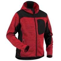 Veste de travail tricotée rouge noir taille L BLAKLADER WORKWEAR