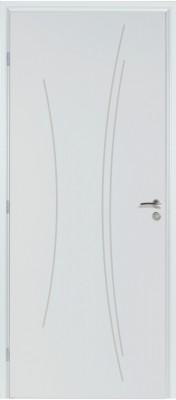 Bloc-porte alvéolaire KAORI pré-peint huisserie 90 Néolys rive droite pêne dormant demi-tour 83 droite RIGHINI