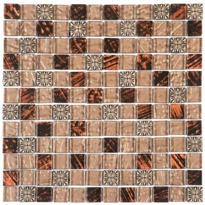 Mosaïque 30x30cm verre marron BATI ORIENT IMPORT