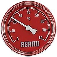 Thermomètre rouge pour plancher REHAU