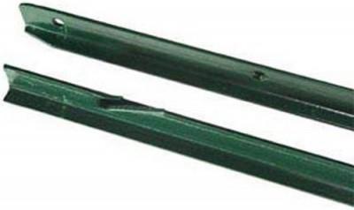 Poteau Té plastifié vert 1,75m DIRICKX