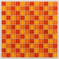 Mosaïque 2x2 verre GLASMOSAIK sunny orange 30x30cm BARWOLF
