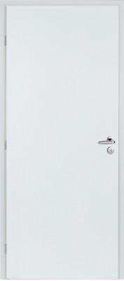 Bloc-porte PLANE alvéolaire prépeinte huisserie 90mm NEOLYS à recouvrement pene dormant 1/2 tour 83cm droit RIGHINI