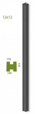 Poteau à feuillures 12x12cm 2,75m MEHAT
