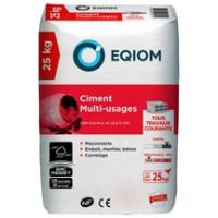 Ciment CEM II/B-M (L-V) 32,5R CE CP2 NF 25kg EQIOM CIMENTS