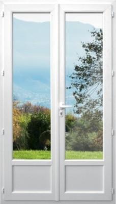 Porte Fenêtre Pvc Blanc Dormant 60m Hauteur 2350x1090 Soubassement