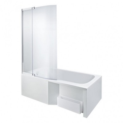 baignoire bain douche malice 160x85cm droite blanc jacob. Black Bedroom Furniture Sets. Home Design Ideas