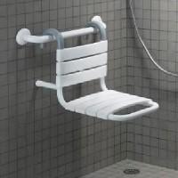 Siège de douche à suspendre blanc
