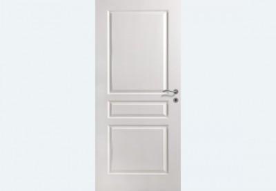 Bloc-porte alvéolaire plane prépeint 830 droite poussant 67x57mm à recouvrement à pêne dormant demi-tour